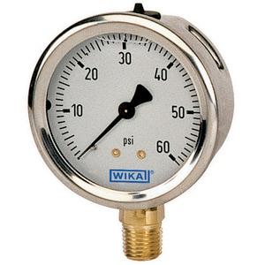 WIKA Bourdon 2-1/2 in. 400 psi 1/4 in. MNPT Liquid Filled Gauge Lead Free W9767100