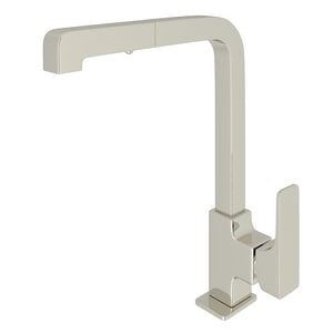 ROHL® Quartile Single Handle Pull Out Kitchen Faucet in Polished Nickel RCU57LPN2