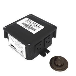 ROHL® Allia Switch Button Control Box Waste Disposer in Tuscan Bronze RAS550TCB