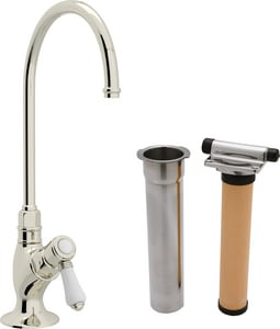 ROHL® Perrin & Rowe® Country Kitchen Kitchen Column Spout Filter Faucet with Single Lever Handle and 4-11/16 in. Spout Reach in Polished Nickel RAKIT1635LPPN2