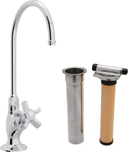 Rohl Perrin & Rowe® Country Kitchen Kitchen Column Spout Filter Faucet with Single Five Spoke Handle and 4-11/16 in. Spout Reach RAKIT1635X2