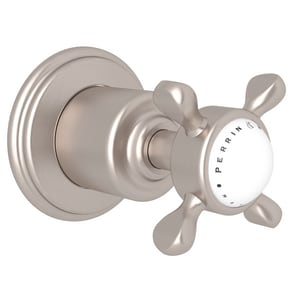 ROHL® Perrin & Rowe® Single Handle Bathtub and Shower Faucet in Satin Nickel (Trim Only) RU3241XSTNTO