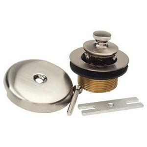 Brass Craft Brass Lift & Turn Drain in Satin Nickel BBC7223NS