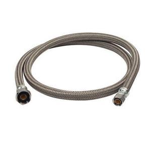 Brass Craft Speedi Plumb® PLUS 3/8 in x 1/2 in. x 48 in. Braided PVC Sink Flexible Water Connector BB148AF