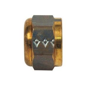BrassCraft 3/8 in. OD Tube Brass Flare Cap B406X