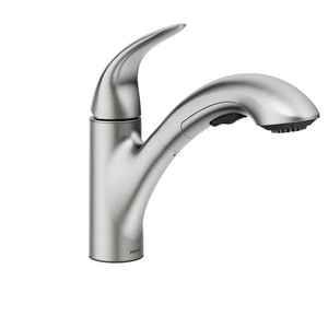 Moen Medina™ Single Handle Pull Out Kitchen Faucet in Spot ...