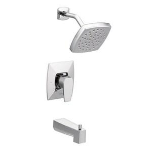 Moen Via™ Single Handle Single Function Bathtub & Shower Faucet in Polished Chrome (Trim Only) MTS8713