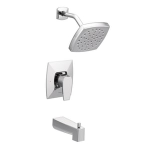 Moen Via™ Single Handle Single Function Bathtub & Shower Faucet in Polished Chrome (Trim Only) MTS8713