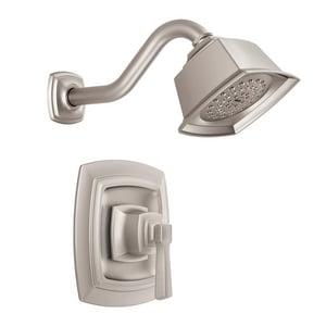 Moen Boardwalk™ 1.75 gpm Shower Trim Kit with Single Lever Handle in Spot Resist Brushed Nickel MT2162EPSRN