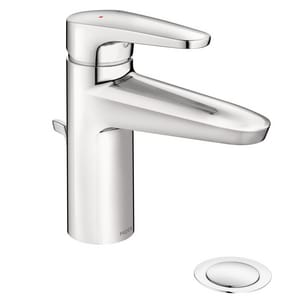 Moen M-Dura™ 8 in. 1.2 gpm 1-Hole Deck Mount Lavatory Faucet with Single Lever Handle in Polished Chrome M9419F12