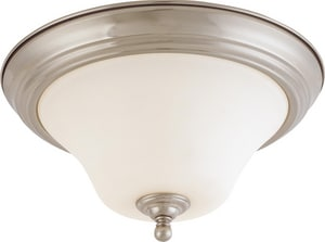 Nuvo Lighting Dupont 13 in. 26W 2-Light Fluorescent GU24 Flush Mount Ceiling Fixture in Brushed Nickel N601905