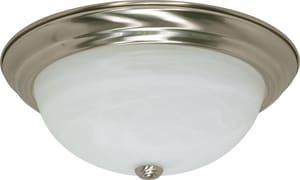 Nuvo Lighting 3-Light GU24 Base Flushmount Ceiling Light in Brushed Nickel N602623