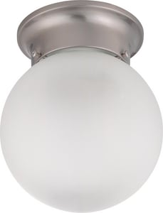1 Light 6 Ceiling Mount With Frosted White Glass N603299