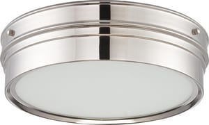 Nuvo Lighting Ben 16W 1-Light LED Flushmount Ceiling Fixture in Polished Nickel N62523