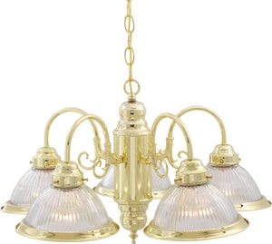 Nuvo Lighting 60W 5-Light Medium E-26 Base Incandescent Chandelier in Polished Brass N76281
