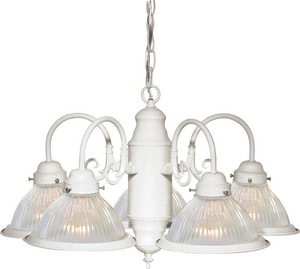 Nuvo Lighting 22 in. 60W 5-Light Medium Incandescent Chandelier in Textured White N76449