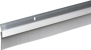 Thermwell Products Frost King 36 in. Reinforced Aluminum and Rubber Door Sweep in Brushed Chrome TA7936A