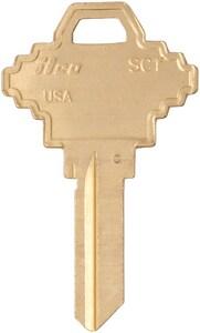 Kaba Ilco Brass Key Blank 250 Pack ISC1BR250