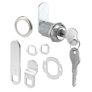 Primeline Products Drawer and Cabinet Lock in Polished Chrome PU9945