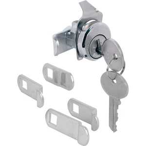 Primeline Products Mailbox Lock with Dust Cover in Nickel PMP4533S