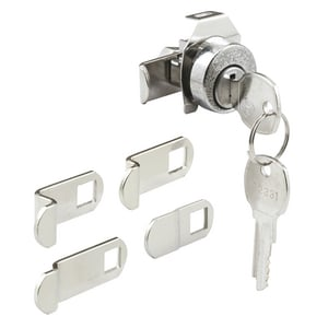 Primeline Products Mailbox Lock with Dust Cover in Nickel PMP4526