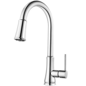 Pfister Pfirst Series™ 1-Hole Pull-Down Kitchen Faucet with Single Lever Handle in Polished Chrome PG529PF1