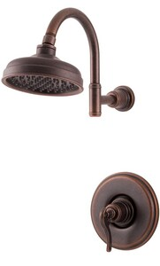 Pfister Ashfield™ 1-Function Showerhead Shower Faucet Trim Kit with Single Lever Handle in Rustic Bronze PG897YPU
