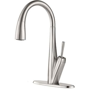 Pfister Zuri™ 1.8 gpm Pull-Down Kitchen Faucet with Single Lever Handle in Stainless Steel PGT529MPS