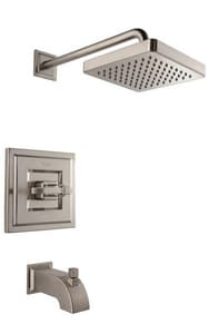 Pfister Carnegie™ 2 gpm Pressure Balancing Tub and Shower Trim with Single Lever Handle in Brushed Nickel PG898WEK