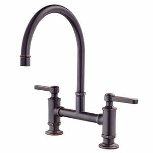 Pfister Port Haven™ Two Handle Bridge Kitchen Faucet in Tuscan Bronze PGT31TDY