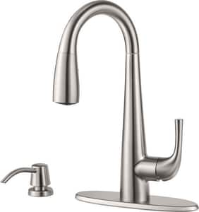 Pfister Alea™ 1.8 gpm Single Lever Handle Bar Faucet in Stainless Steel PGT72ALSS