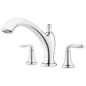 Pfister Northcott™ Two Handle Roman Tub Faucet in Polished Chrome Trim Only PRT65MGC