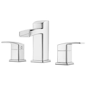 Pfister Kenzo™ Two Handle Widespread Bathroom Sink Faucet in Polished Chrome PLG49DF0