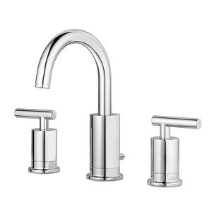 Pfister Contempra™ Two Handle Widespread Bathroom Sink Faucet in Polished Chrome PLG49NC1C