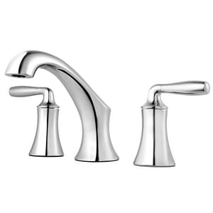 Pfister Iyla™ Two Handle Widespread Bathroom Sink Faucet in Polished Chrome PLG49TR0C