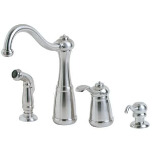 Pfister Marielle 1 8 Gpm 4 Hole Kitchen Faucet With Single