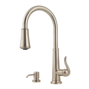 Pfister Ashfield™ Single Handle Pull Down Kitchen Faucet in Brushed Nickel PGT529YPK