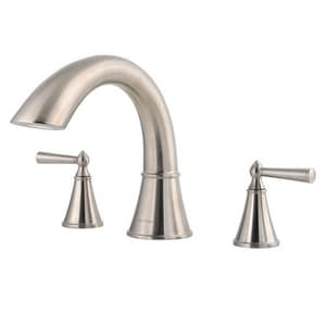 Pfister Saxton™ Two Handle Roman Tub Faucet in Brushed Nickel Trim Only PRT65GLK