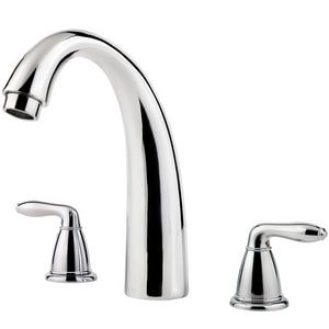 Pfister Serrano™ Two Handle Roman Tub Faucet in Polished Chrome Trim Only PRT65SRC