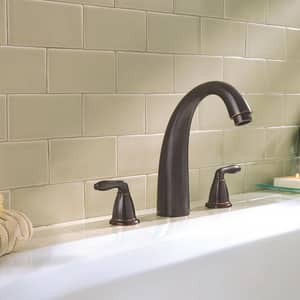 Pfister Serrano™ Two Handle Roman Tub Faucet in Tuscan Bronze Trim Only PRT65SRY