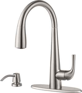 Pfister Alea™ 1.8 gpm 2-Hole Pull-Down Kitchen Faucet with Single Lever Handle in Stainless Steel PGT529ALS