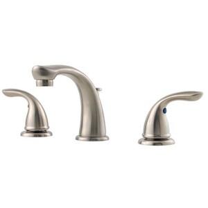 Pfister Pfirst Series™ Two Handle Widespread Bathroom Sink Faucet in Brushed Nickel PLG149610K