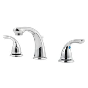 Pfister Pfirst Series™ Two Handle Widespread Bathroom Sink Faucet in Polished Chrome PLG1496100