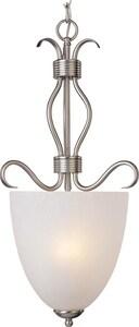 Maxim Lighting International Basix 60W 2-Light Foyer Pendant in Satin Nickel M10130ICSN