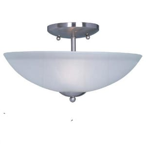 Maxim Lighting International Logan 8-1/2 in. 2-Light Semi-Flushmount Ceiling Fixture with Frosted Glass Shade M10042FT