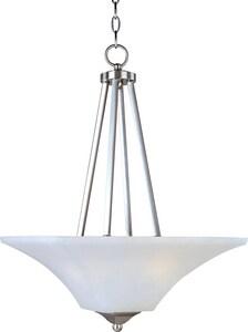 Maxim Lighting International Aurora 24-1/2 in. 60W 2-Light Invert Bowl Pendant in Satin Nickel M20093FTSN