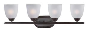 Maxim Lighting International Axis 8-1/2 in. 60W 4-Light Bath Vanity in Oil Rubbed Bronze with Frosted Glass Shade M11314FTOI