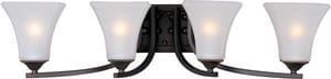 Maxim Lighting International Aurora 7 in. 100W 4-Light Bath Light in Oil Rubbed Bronze with Frosted Glass Shade M20101FTOI