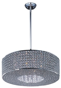 Maxim Lighting International Glimmer 6 in. 40W 10-Light Pendant in Plated Silver M39896BCPS