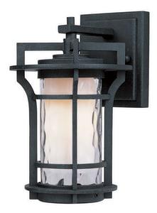 Maxim Oakville 6-1/4 in. 60W 1-Light Medium E-26 Incandescent Wall Lantern in Black Oxide M30482WGBO